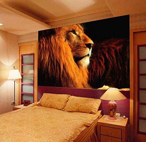 3D vliesbehang foto vlies premium fotobehang textured groot dier leeuw 5D papel wandafbeeldingen wallpaper 3D wandafbeeldingen behang voor woonkamer 300*210 300 x 210 cm.