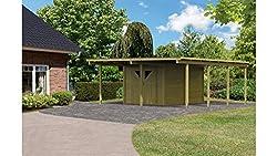 carport mit schuppen oder abstellraum kaufen g nstige preise. Black Bedroom Furniture Sets. Home Design Ideas