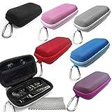 Gupi Love My Case - Carcasa rígida para reproductor de MP3, color rojo y duradero, con mosquetón para Sony Walkman NW-ZX2, reproductor de MP3 de alta resolución con Love My Case