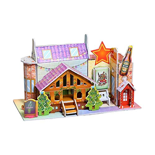 dontdo Rompecabezas tridimensional Juguetes educativos 3D papel tridimensional rompecabezas juguete educativo DIY niños regalo hecho a mano A