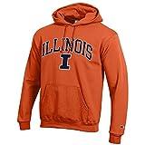 Elite Fan Shop Illinois Fighting Illini Hooded Sweatshirt Varsity Orange - XX-Large