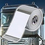 TRUCK DUCK rayas universal Cromo decorativas 10 m x 50 mm Protector de pantalla rayas etiqueta adhesiva Camiones Auto Moto