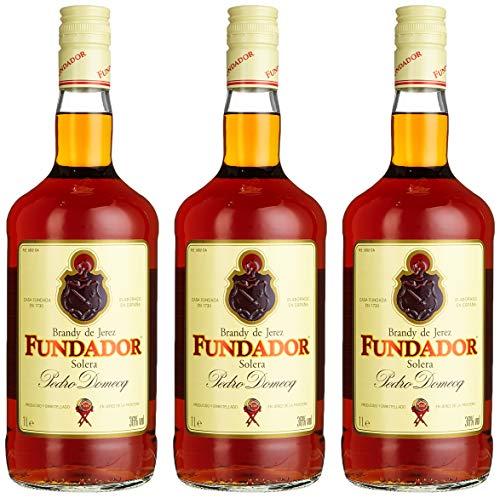 Fundador, Solera Reserva Brandy de Jerez, Pedro Domecq, (3 x 1 l)