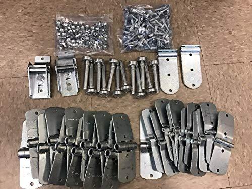 "Todco 44 Pack Door Repair Kit- All Hinges + 1"" Rollers + Hardware - Whiting New"