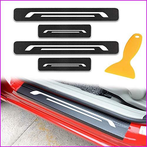 Longzhimei 4D Carbon Fiber Texture Car Door Entry Guard Door Sill Protectors for CITROEN C1 C3 Grand C4 Picasso 4Pcs