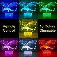 タッチコントロール、ドラゴンシリーズナイトライト3D LEDナイトランプリモート/タッチコントロールキッズクリスマスギフト家の装飾USB電源