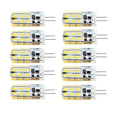 G4 Spot Ampoule LED 3W 24 SMD 2835 260 lm Blanc Chaud / Blanc Froid AC 100-240 / DC 12 / AC 12 V 10 pièces ( Light Source Color : Warm White , Voltage : 220V )