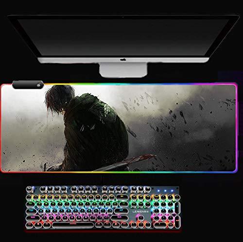 RGB-Mauspad Levi-Mauspad Heimcomputermatte Gaming Mousepad Große beliebte Padmouse-Tastaturspiele PC-Gamer-Schreibtisch CL (30 x 70 cm)