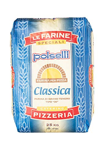 "All Purpose & All Natural""00"" Flour for Pizza, Pasta, and Baking (25 kg) 55 lbs CLASSICA by Polselli"