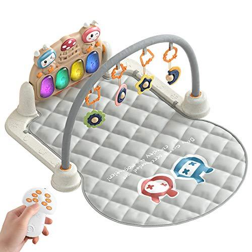 Recién Nacido Bebé Playmat,Gimnasio de Actividades Juguetes con Luz y Música,Actividad musical Gimnasio para bebés Niños pequeños de recién nacido(Rabbit)
