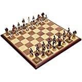 Yxxc Compact Board Classic Chess Set Chess Large Resin Stereo Simulation Character Chess Chess is The for Kids of All Ages and Board Games Travel Internati