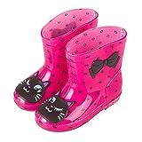 ADDYZ Primavera otoño lluvia botas niños animal patrón botines niños bebé...
