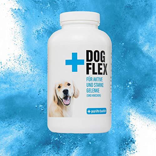 Dog Flex – Nahrungsergänzungsmittel | Gelenktabletten für Hunde | Arthrose | Gelenkprobleme | Grünlippmuschelpulver, Glucosamin, Chondroitin, MSM, Teufelskralle | 150 Tabletten für die Gelenke