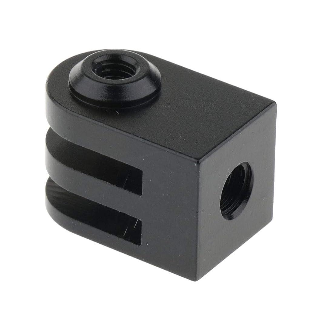 Prettyia 1/4inch Screw Monopod Tripod Mount Adapter for GoPro Hero 5 4 3 3+ 2 1 Sports Cameras Black