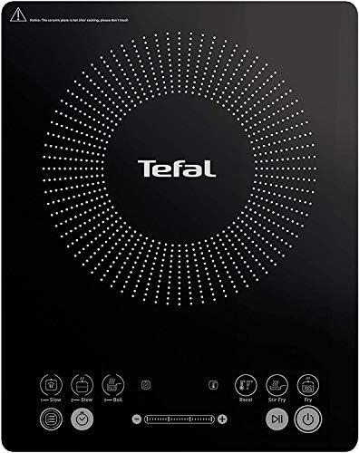 Tefal Everyday Slim - Placa de inducción portatil, 6 modos automáticos, 1 control manual, 240 C, hasta 2100 W, color negro