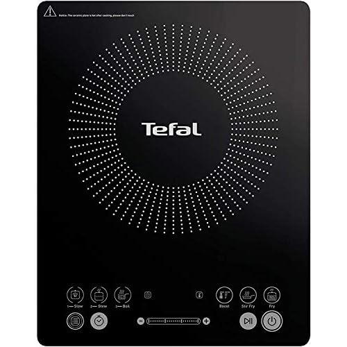 Tefal IH210801 - Piastra a induzione, sottile, piastra elettrica, 6 programmi di cottura