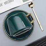 HRDZ Tazza da caffè in ceramica piccola tazza piatto di utensili set tazza Femmina squisita set retrò