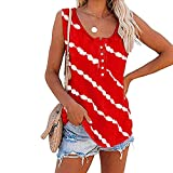 Women's Casual Loose Shirts Crewneck Colorblock Tunic Tops Striped Sleeve Tee Blouse Maternity Tops for Pregnancy White Fashion Tops for Womens Red Blouse Womens Tshirts Pack($2-Red,XXXXXL)