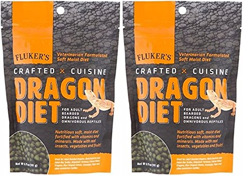 Fluker's New 2 Pack of Crafted Cuisine Juvenile Bearded Dragon Diet, 6.75 Ounces Per Pack