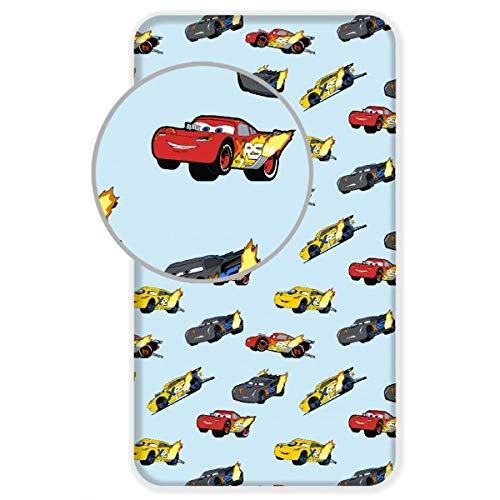 Disney Cars Spannbettlaken, 90 x 200 cm, für Einzelbett, Baumwolle