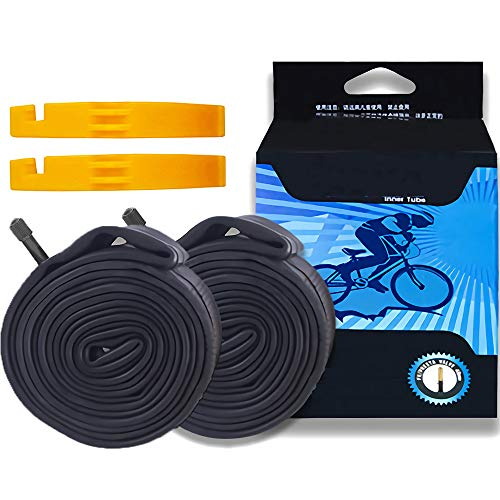 Daohexi 26 Inch Inner Bike Tubes, 2Pack Cycling Tubes Plus 2 Tire Levers, Mountain Bike Inner Tubes, 26x1.75/1.95/2.10/2.125 Schrader Valve