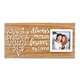VILIGHT Mom Picture Frame Gifts for Mother's Birthday from Daughter Son - Always My Mom Forever My Friend - 3x3 Photo
