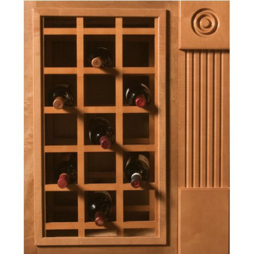 Omega National Products Sonoma Cabinet Mount Wine Lattice 21 Bottle Capacity Alder