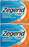 Zegerid OTC Heartburn Relief, 24 Hour Stomach Acid Reducer Proton Pump Inhibitor with Omeprazole and Sodium Bicarbonate, Capsules, 42 Count (2 Pack (42 Count))