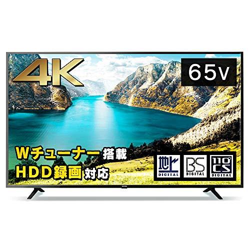 アイリスオーヤマ65型4K対応液晶テレビ65インチブラック65UB10P