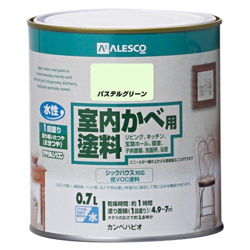 カンペハピオ 室内かべ用塗料 パステルグリーン 0.7L