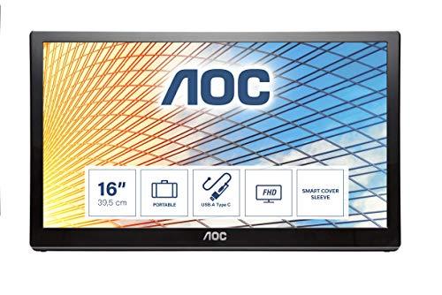 Monitor LCD alimentado por USB AOC E1659FWU 40,6 cm