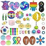 CaCaCook Fidget Toys Pack, 43 Pièces Jouets sensoriels Bon marché Gadgets Fidget Toys Anti-Stres, Sensory Fidget Toy Set pour Les Enfants Adultes, Outils de soulagement du Stress et Anti-anxiété (BB)