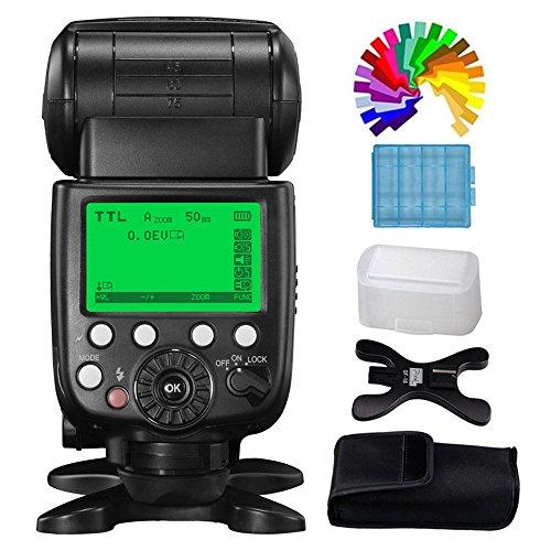 Pixel Flash Speedlite i-TTL HSS 1/8000s GN60 2,4G X800N Pro Flash para Nikon cámaras (Reemplazar Nikon SB-800 SB-900)