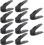 Femor Set de 10pcs de Organizadores Ajustables de Zapatos (Negro-20pcs)