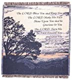 'Lord Bless You' Bible Verse Numbers 6:24-26 Afghan Throw Blanket 48' x 60'