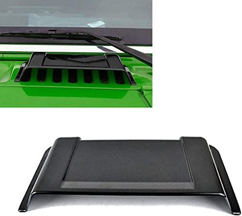 kkone Black Cowl Vent Hood Scoop Fit for Wrangler JK TJ 1998-2018