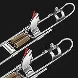 Eforcase Soporte automático para caña de pescar de fuerza engrosada de acero duro se puede utilizar en depósitos/río/lago/estanque