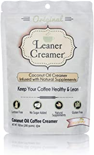 Leaner Creamer Original Sugar Free Coffee Creamer Powder 9.87oz. Perfect Coconut Oil Non-Dairy Powder To Naturally Cream a...