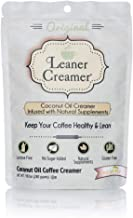 Leaner Creamer Original Sugar Free Coffee Creamer Powder 9.87oz. Perfect Coconut Oil Non-Dairy Powder To Naturally Cream and Sweeten Coffee, Smoothies, Protein Shakes & More! Ideal Flavoring For All Diets
