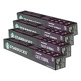 Starbucks caffè Verona - Set di 4 tazzine da caffè, compatibili con Nespresso, 40 Capsule