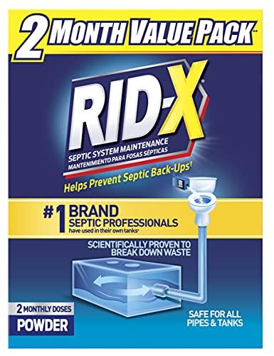 Rid-X Septic Tank System Treatment Powder, 19.6 Ounce