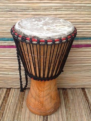 Cabezal de tambor africano auténtico de 28 cm (28 cm de