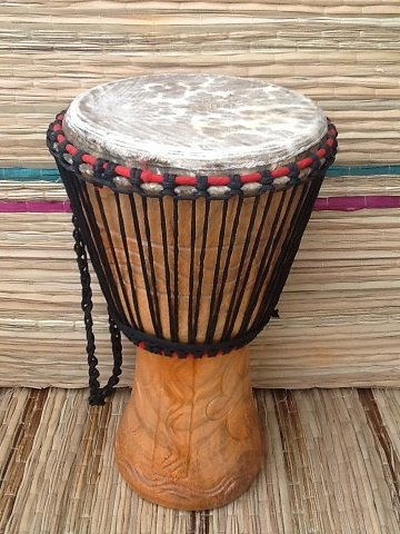 Afrikanische Djembé-Trommel, 28 cm Fell-Durchmesser, inkl. Schlagzeugfell