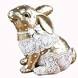 J.Mmiyi Estatua Decorativa de Conejo Figuras, Animal Esculturas Decoracion Moderna Cuarto Hogar Sala Adornos,B