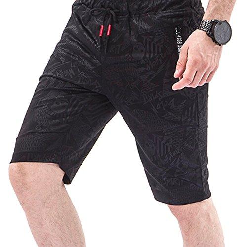Amphia - Trainingsshorts für Herren,Männer Overalls Skull Lässige Pocket Beach Work Lässige Kurze Hosen Shorts Hosen
