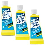 Carbona Stain Devils #3 – Ink, Marker & Crayon | Professional Strength Laundry Stain Remover | Multi-Fabric Cleaner | Safe On Skin & Washable Fabrics | 1.7 Fl Oz, 3 Pack