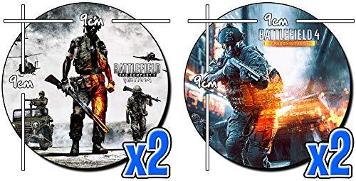 MasTazas Battlefield Bad Company 2 Vietnam Untersetzer x4 Coasters