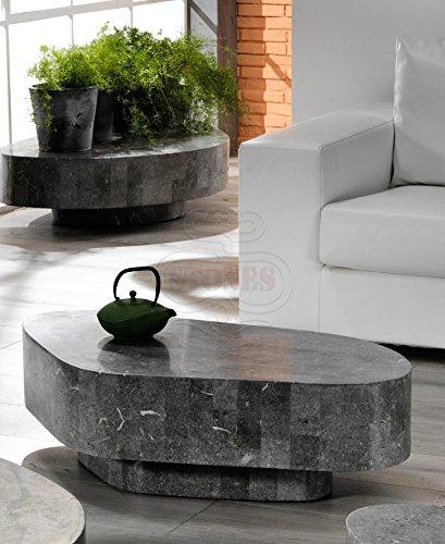 Stones Trapezio Tavolino da Salotto, Grigio Pietra, 100x52x28 cm