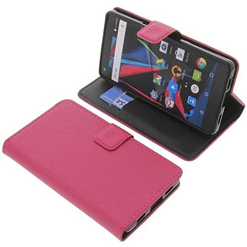 foto-kontor Tasche für Archos Diamond 2 Plus Book Style pink Schutz Hülle Buch