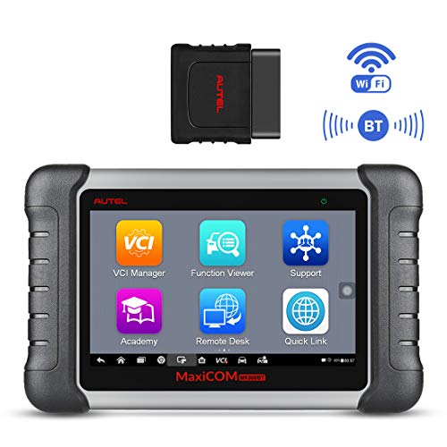Autel MK808BT Wireless Bluetooth & Full System OBD2 Diagnostic Scanner with 23 Services Function, Key Fob Coding, Advanced Version of MK808, ABS Auto Bleed, Combination of MaxiCheck Pro and MD808 Pro